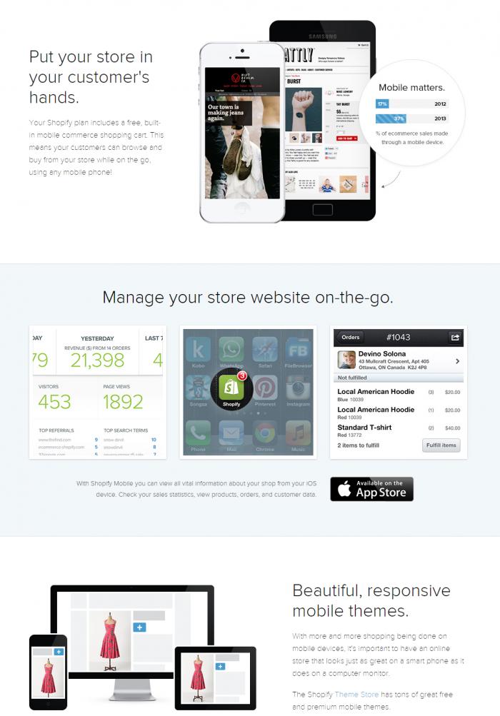 Shopify Mobile Friendly Website Builder Responsive Designs