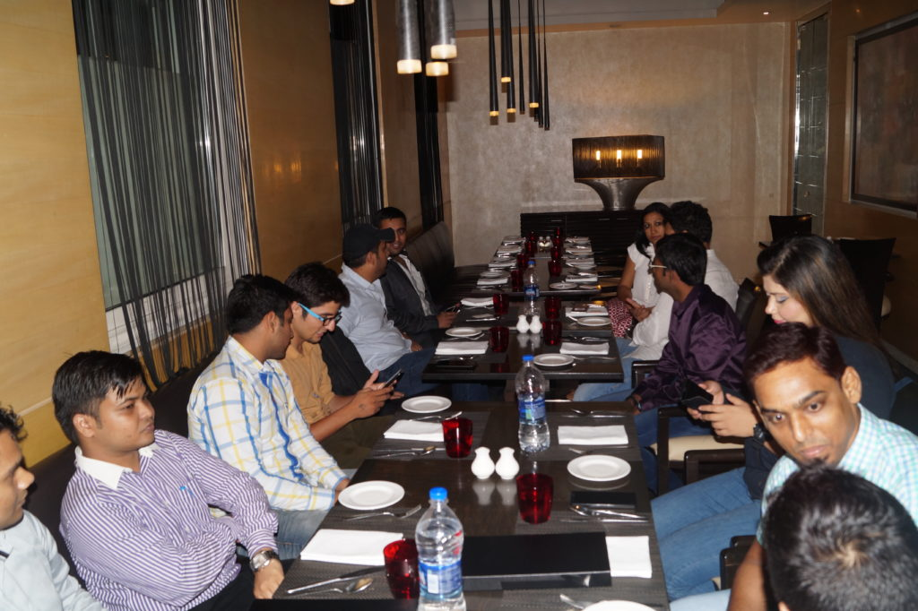 payoneer networking dinners india july 2015 food enjoying