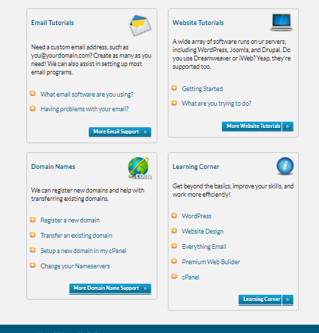 web hosting hub- customer support