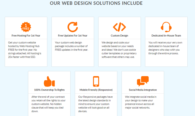 web hosting hub- web design
