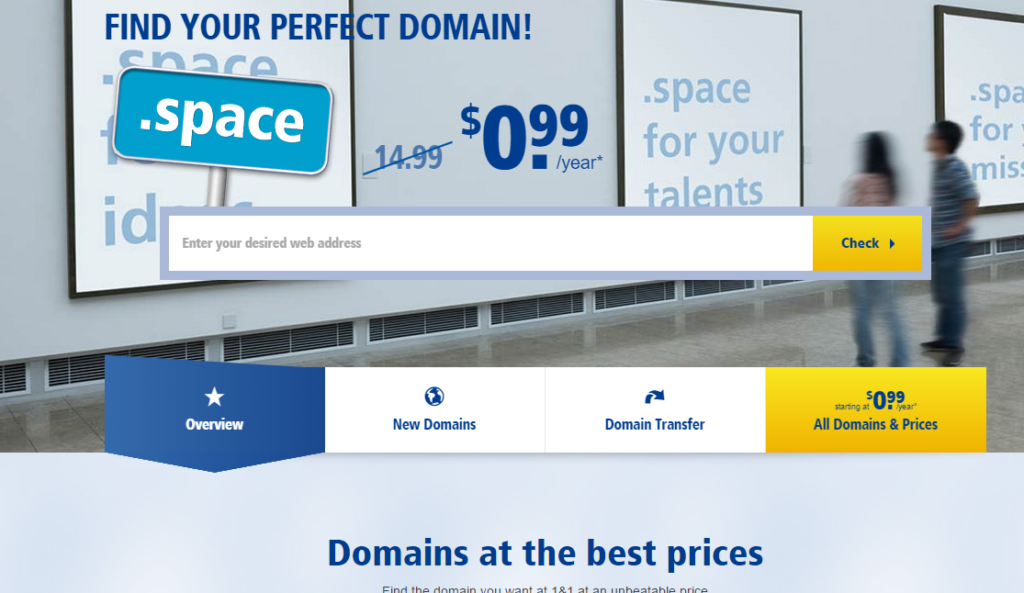 1and1 Domain Names