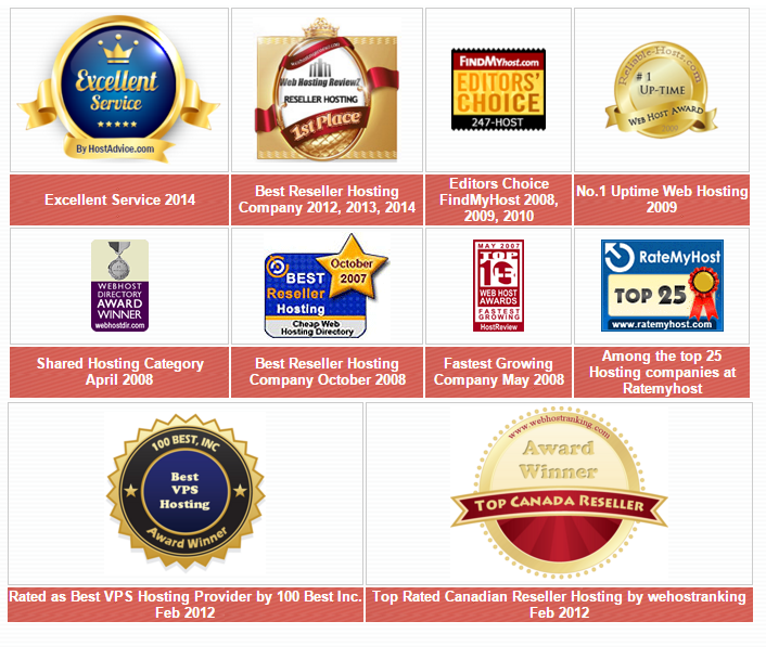 247 Host Testimonials Awards