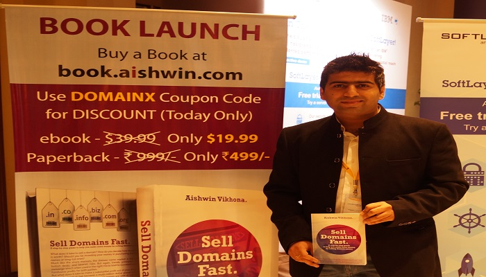 Domain X 2015 Aishwin with hi  book how  to  sell domains fast