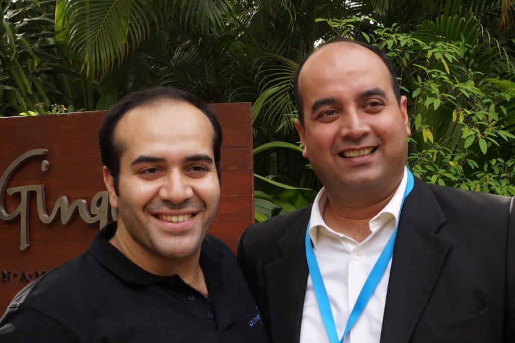 DomainX Co-Organiser Gaurav Kohli with DomainX 2015 speaker Mr. Rodney Ryder