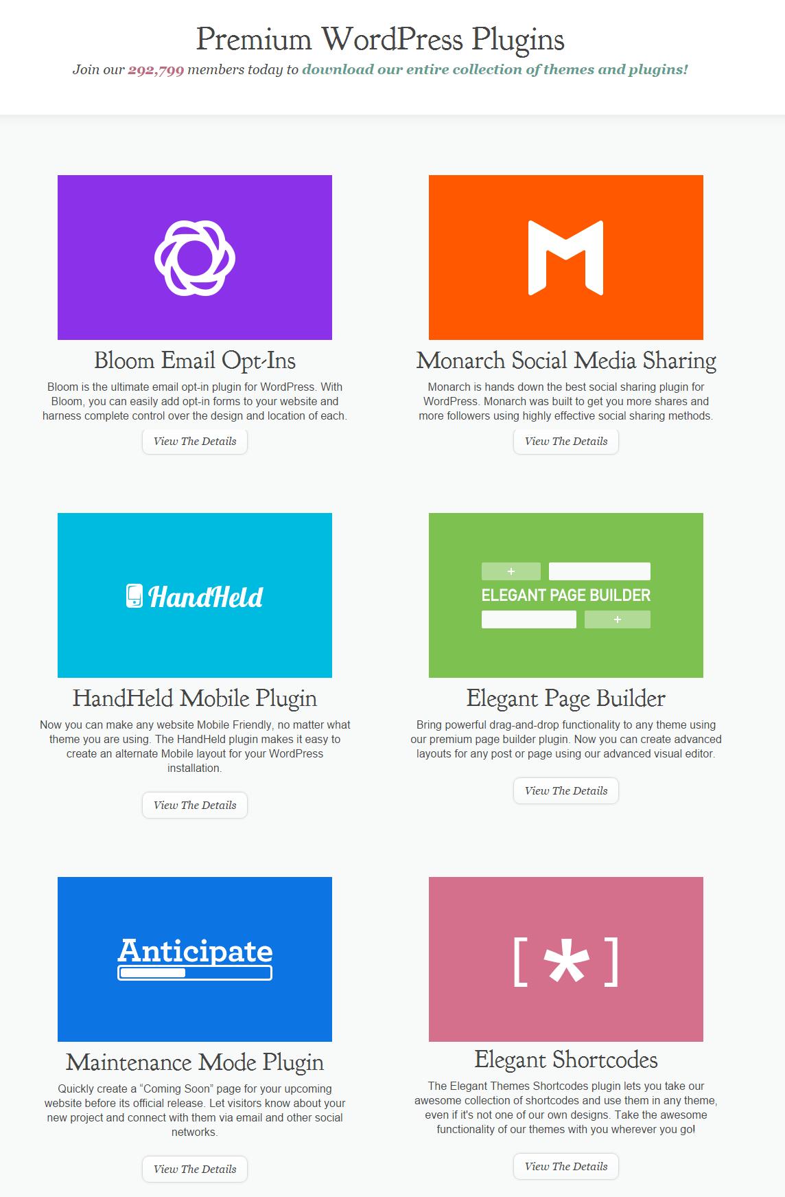 Elegant Themes Premium WordPress Plugins