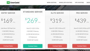 GreenGeeks Dedicated Servers