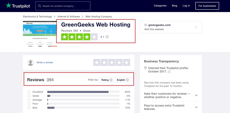 Greengeeks customer reviews and testimonials