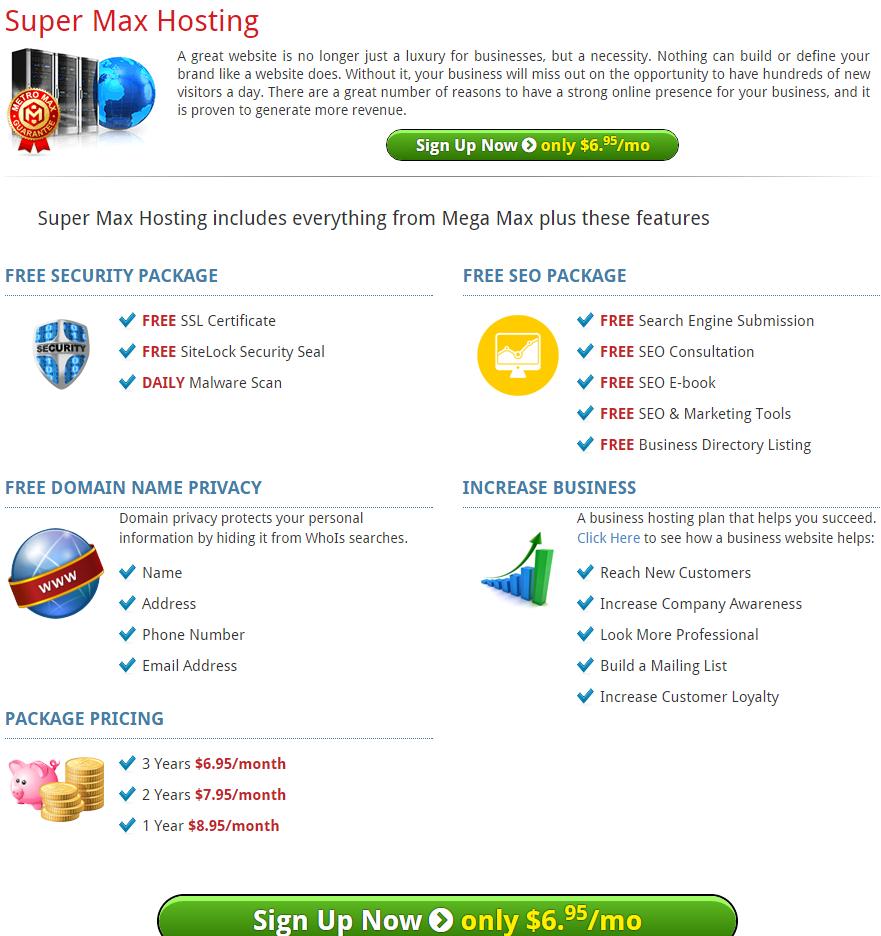 HostMetro supermax hosting coupons
