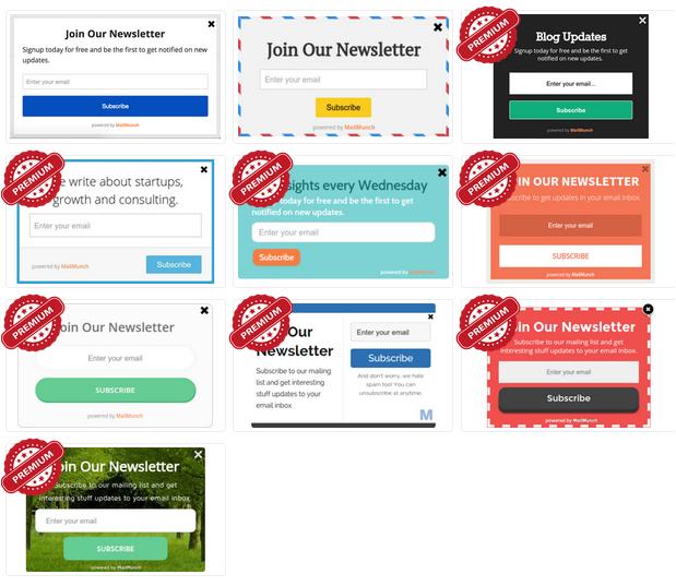 MailMunch Scrollbox Themes