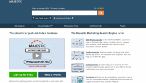 Majestic Marketing Search Engine and SEO Backlink Checker