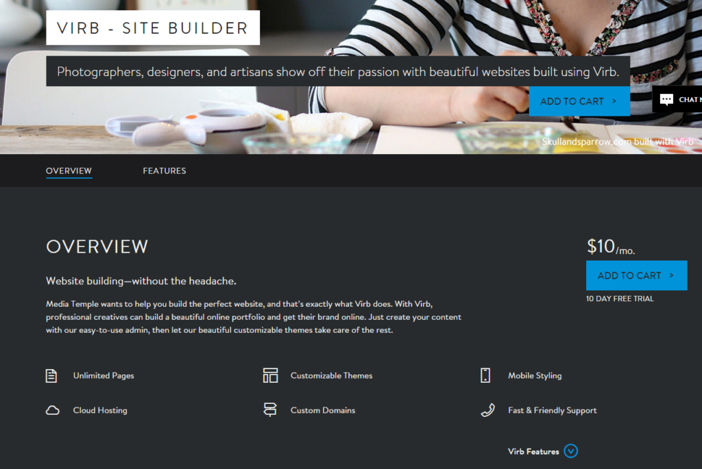 Media Temple Virb Build your own website with the best site builder