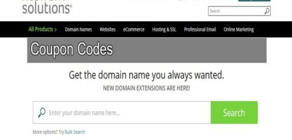 Network Solutions Coupon codes promo codes discount codes