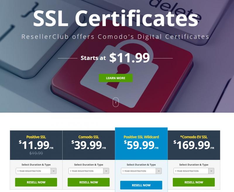 ResellerClub SSL Security Certificate