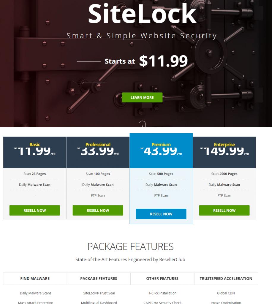 ResellerClub SiteLock Smart Simple Website Security