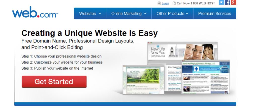 Web.com Make Your Own Website - website builders india