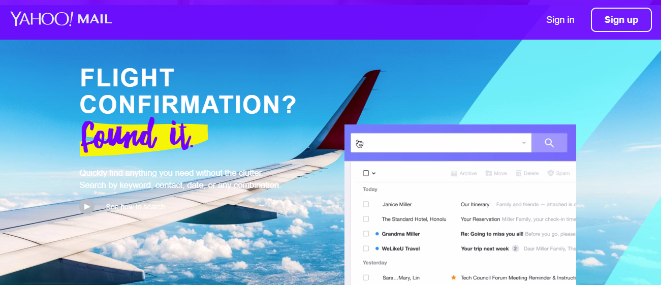 Yahoo coupons - flight confirmation
