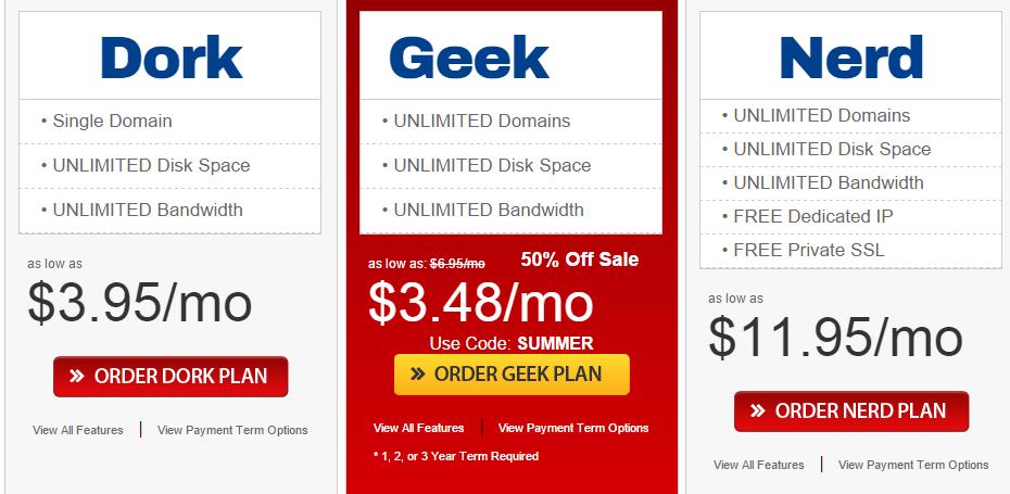 certified hosting Web Hosting plans