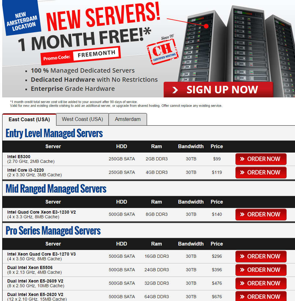 Managed Dedicated Servers - Certified Hosting Coupon Code