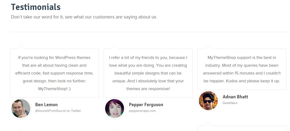 mythemeshop review customer testimonials
