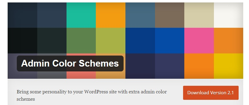 Admin Color Schemes plugin