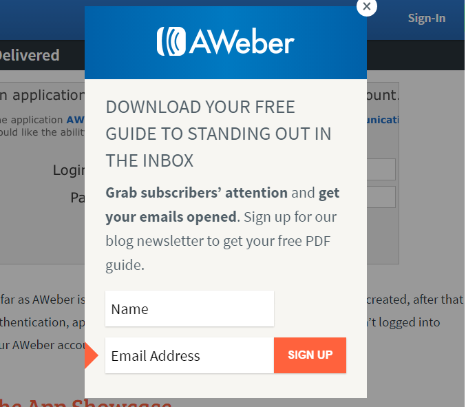 Aweber Web Form WordPress Plugin