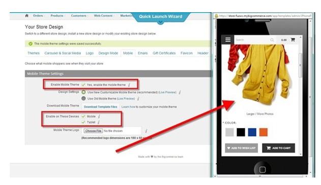 Bigcommerce review mobile e-commerce