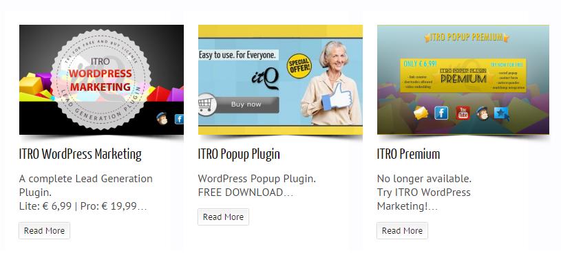 ITRO Popup WordPress Plugin