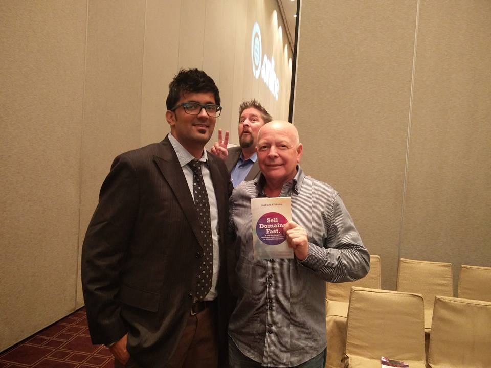 Jitendra Vaswani with Gregg Tripleg as Jothan photobombs for fun