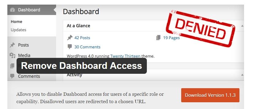 Remove Dashboard Access