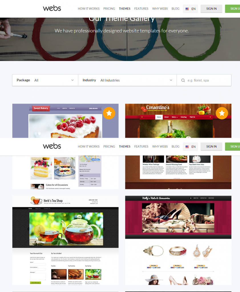 Webs Themes