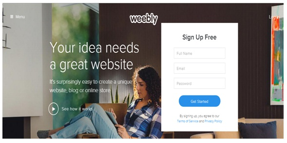 Weebly review homepage