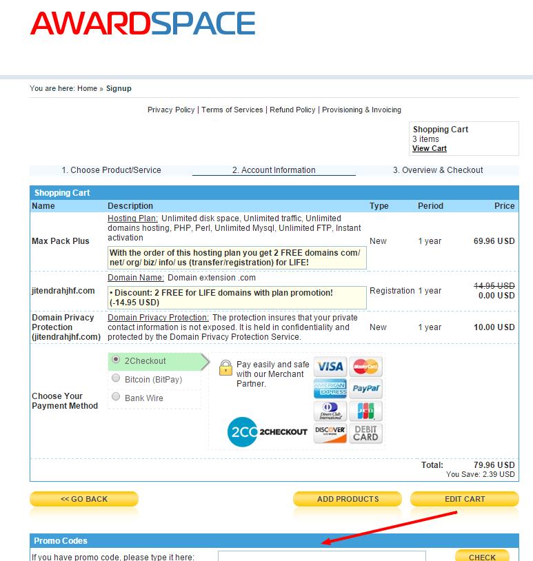 AwardSpace Promo Codes