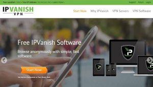 IPVanish review homepage