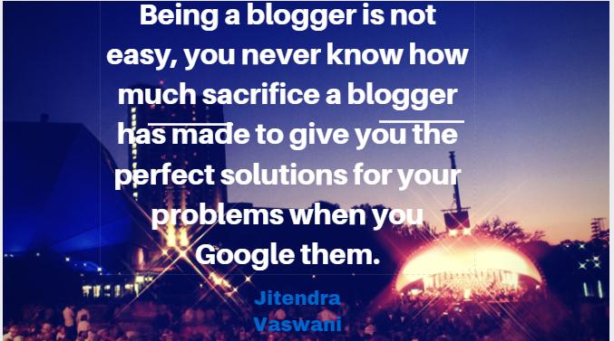 Jitendra vaswani quotes blogger