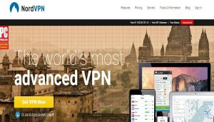 NordVPN review homepage