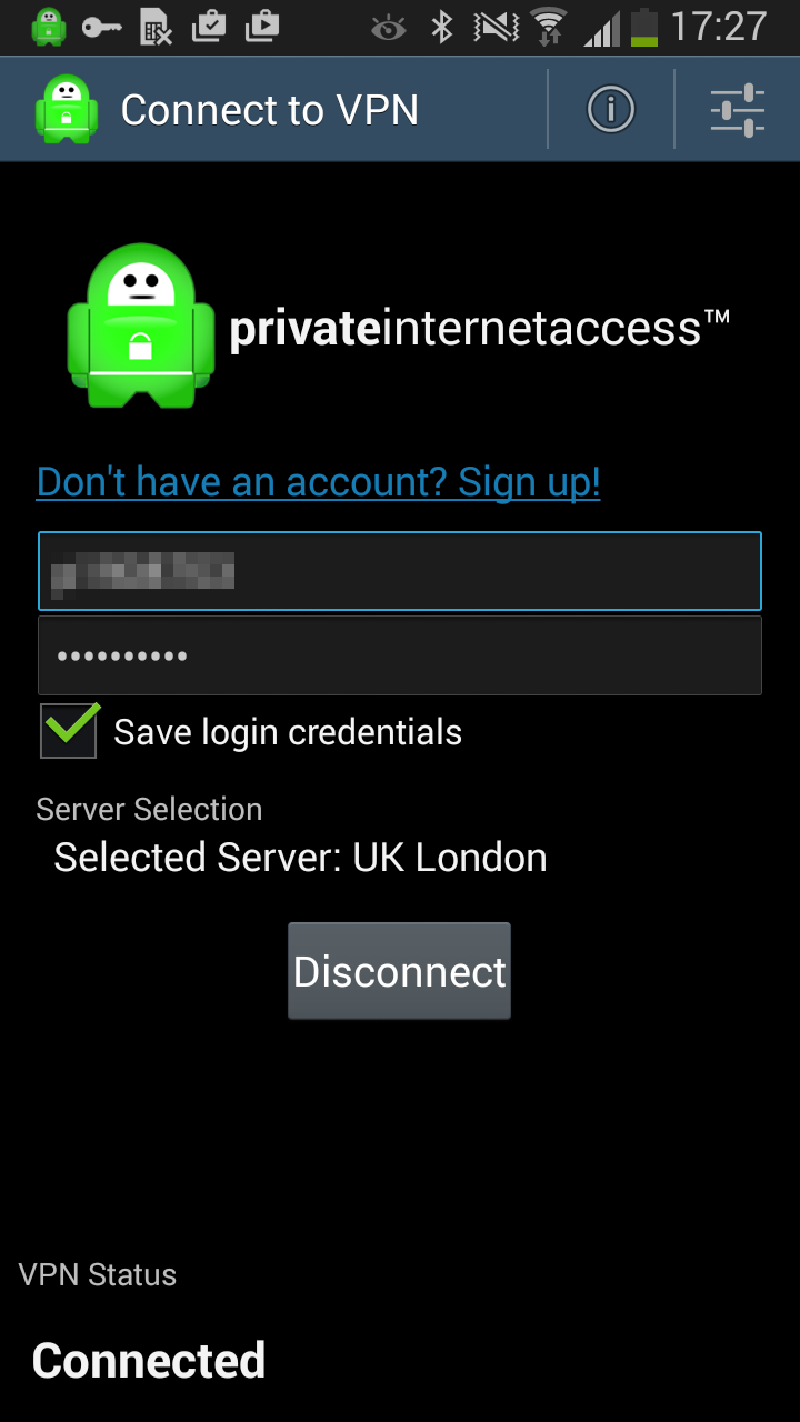 Private Internet Access android