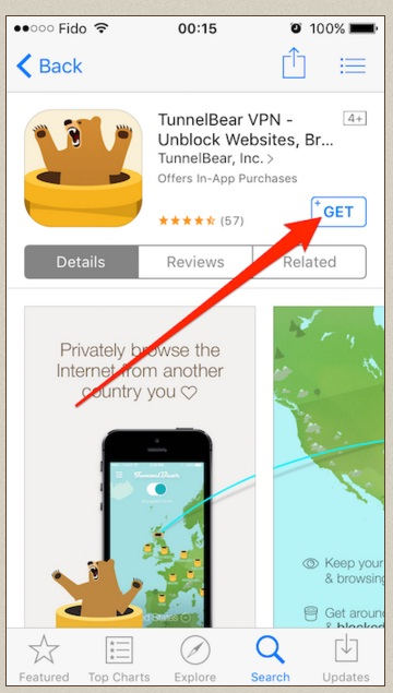TunnelBear review ios app