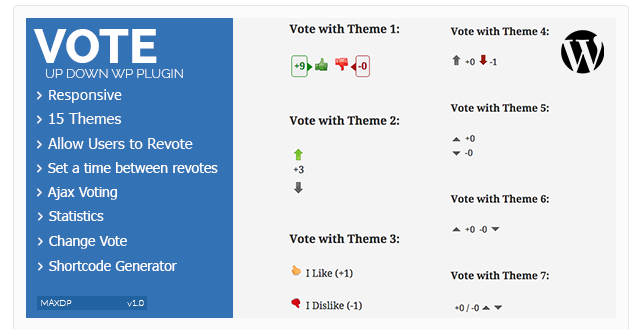 Vote Up Down WordPress Plugin