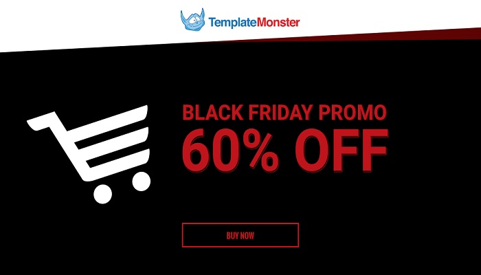 TemplateMonster Black Friday Cyber Monday Sale Save Upto 60%