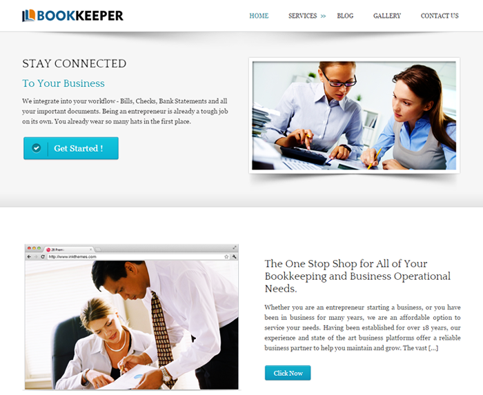 BookKeeper WordPress Theme
