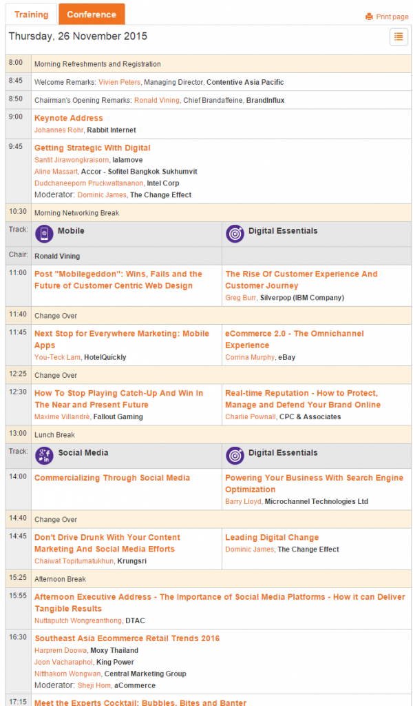 ClickZLive Bangkok conference