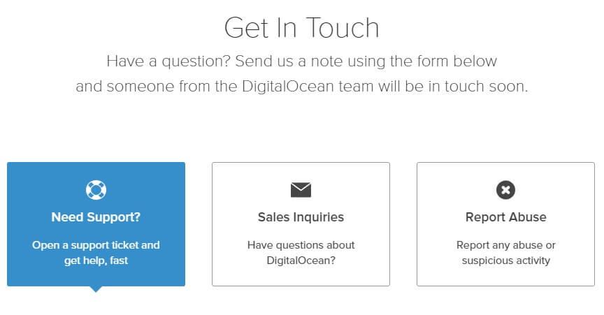 DigitalOcean Review customer support