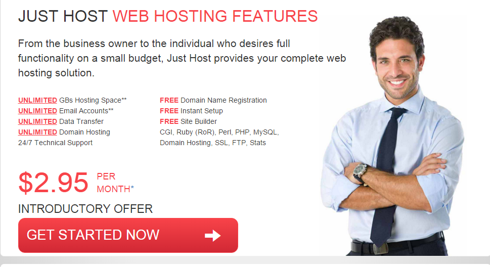Just Host Web Hosting Features