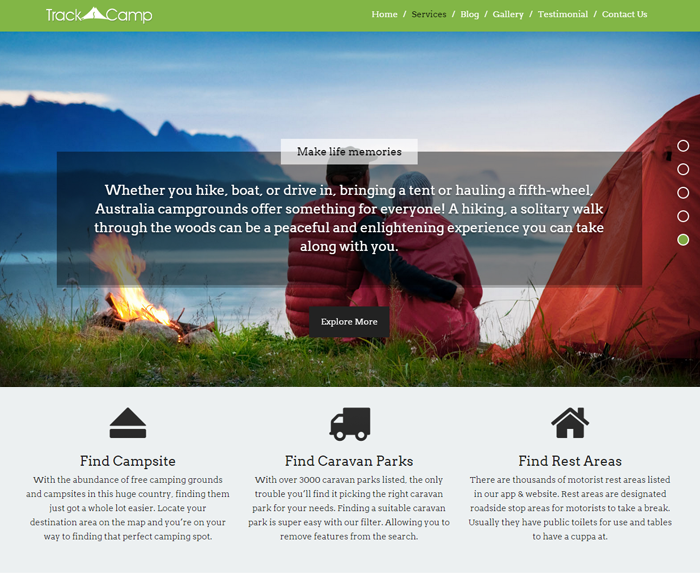 TrackCamp WordPress Theme