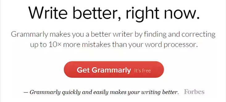 Grammarly writing tool