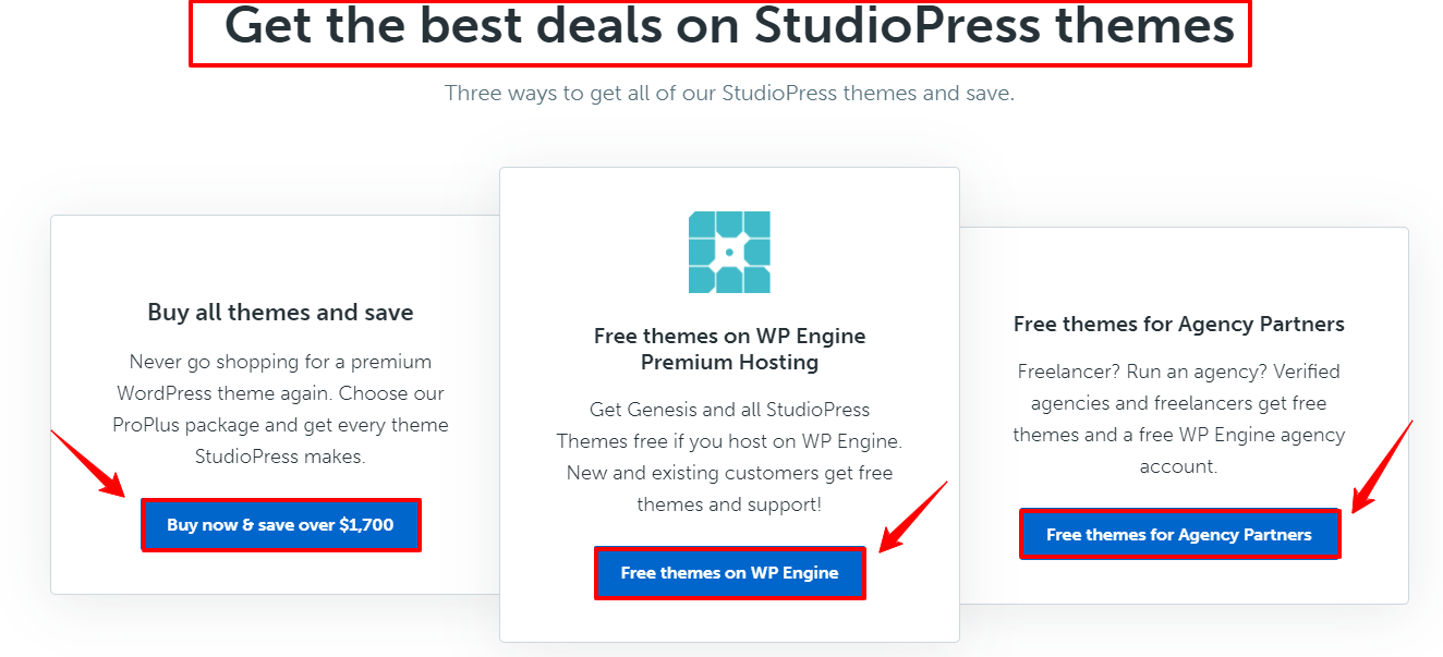 Get the best deals on StudioPress themes