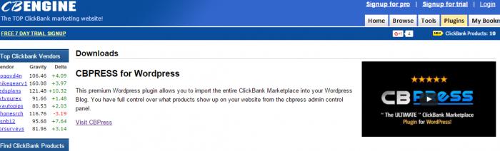 CBpress WordPress Plugin CBENGINE