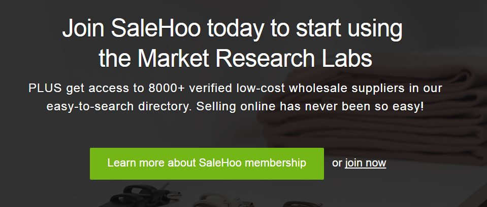 SaleHoo Market Research Tool