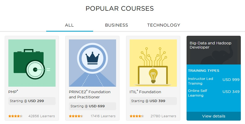 simplilearn courses