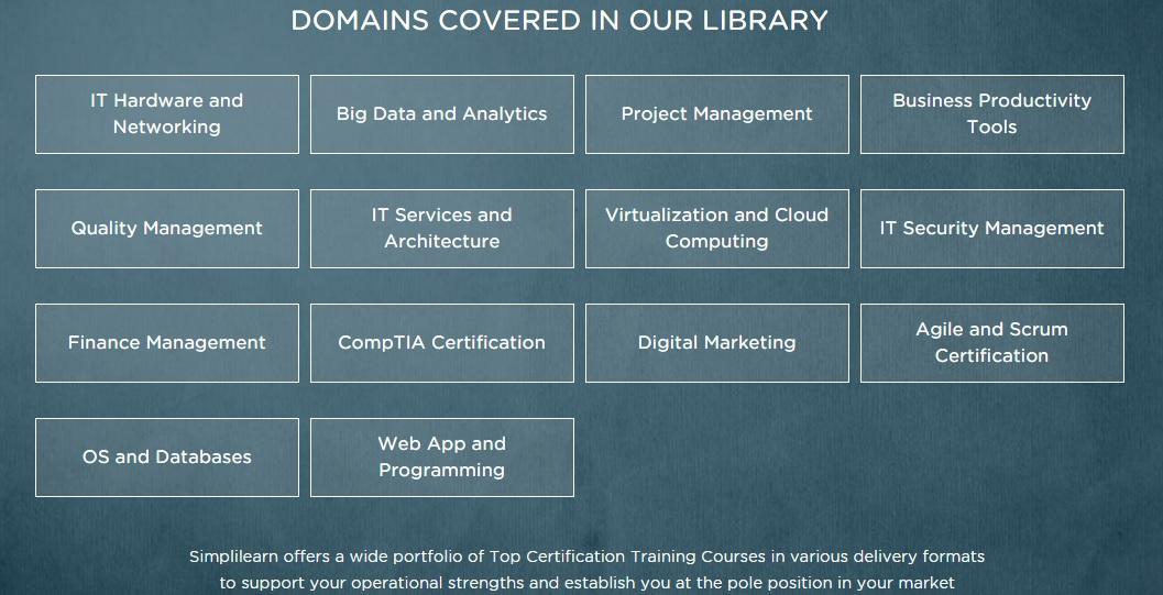 simplilearn domains